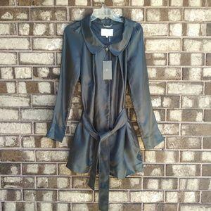 NWT 7 FAM metallic silk dress size large